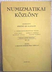 obverse: AA. VV. - NUMIZMATIKAI KOZLONY. Szerkeszti bìròné sey katalin. A szerkeszto bizottsàg tagjai. Budapest, 1990. pp. 180, tavv. 15