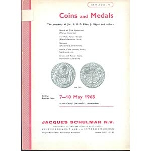 obverse: SCHULMAN J. N.V. - Amsterdam 7-10 May 1968. Coins and Medals, The property of Jhr. E. R. D. Elias, J. Moger and others. pp. 143, nn. 2763, tavv. 84.