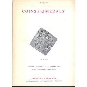 obverse: SCHULMAN J. B.V. - Amsterdam 27-29- april 1976. Coins and Medals pp. 137, nn. 2570, tavv. 56