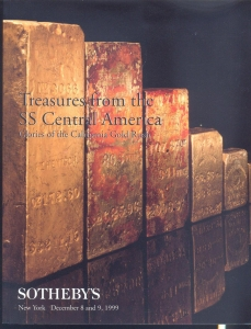 obverse: SOTHEBY S - New York 8/9- December 1999. Treasures from the SS Central America. Glories of the California Gold Rush. pp. 206, nn. 250 tutti ill. a colori e b/n. raro e importante