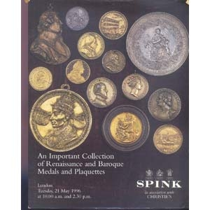 obverse: SPINK, CHRISTIES. London 21 May 1996. An important Collection of Renaissance and Baroque Medals and Plaquettes. pp. 333, nn.534 tutti ill. importante collezione