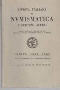obverse: AA. VV. – Rivista italiana di numismatica e scienze affini. Indice 1888-1967. Vol. I. Numismatica – Sfragistica – Glittica. Milano, 1968. pp. 206.
