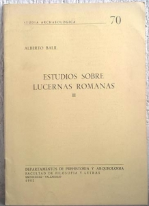 obverse: BALIL A. – Estudios sobre lucernas romanas. III. Valladolid, 1982. pp. 17, tavv. 3 b/n.