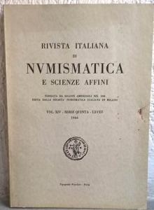obverse: AA. VV. – Rivista italiana di numismatica. Milano, 1966. pp. 199, ill. b/n