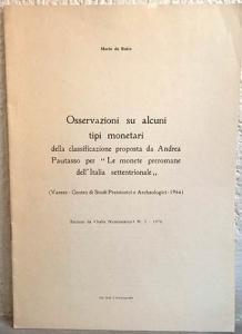 """obverse: DE RUITZ M. – Osservazioni su alcuni tipi monetari della classificazione proposta Da Andrea Pautasso per """"Le monete preromane dell'Italia settentrionale"""""""