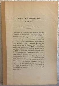 obverse: DIRKS J. - La trouvaille de Pingjum (Frise). Leeuwarde, 1869 pp. 7, tavv. 1 molto raro