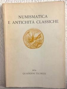 obverse: AA. VV. – Quaderni ticinesi. Numismatica e antichità classiche. Lugano, 1974. pp. 273, molte ill.