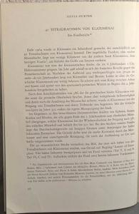 obverse: HURTER S. – Tetradrachmen von Klazomenai. pp. 26-35, tavv. 7. importante con tavole