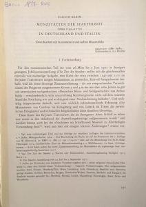 obverse: KLEIN U. – Munzstatten der stauferzeit (etwa 1140-1270) in Deutschland und Italien. Berna, 1977. pp. 171-278, tavv. 38-44.