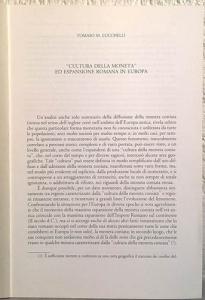 """obverse: LUCCHELLI T. M. – """"Cultura della moneta"""" ed espansione romana in Europa. pp. 75-91, ill."""
