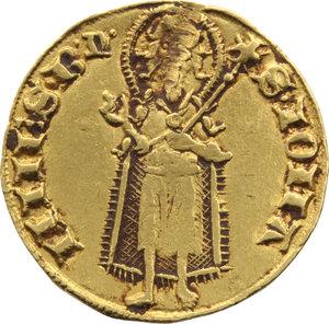 Z. ITALIANE. FIRENZE. Repubblica (1189-1532). Fiorino d'oro (gr.3,80). D/Giglio fiorentino. R/•S•IOHA NNES•B•ᶯ° (simbolo MIR XI,5), figura del Santo. CNI.56/57 var. Colpo sul viso del Santo. AU.