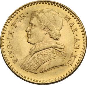 Z. ITALIANE. ROMA. Pio IX (II per. 1849-66) 2,5 Scudi 1858 an.XII. Pag.365. AU.