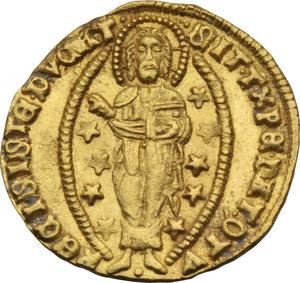 Z. ITALIANE. VENEZIA. Pasquale Malipiero (1457-62) Ducato. Nei tipi soliti. Pao.1. AU. Raro
