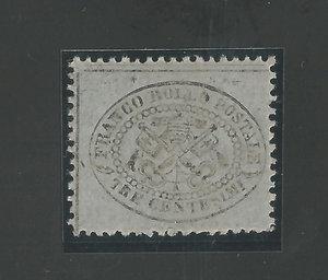 R/ FRANCOBOLLI. STATO PONTIFICIO. Pio IX (1846-70). 3 centesimi nuovo, 5 e 40 centesimi, usati sciolti. Sass.24/22/49. (3 certificati B.) (3p.zi)