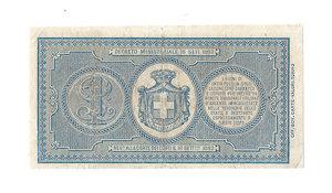 R/ CARTAMONETA. REGNO D'ITALIA. Umberto I (1878-1900) 1 Lira N.serie 31 588965. Emissione 18.01.1894 (R.Decr. 4 Agosto 1893) (Firme: Dall'Ara – Crodara) Alfa BC 2. (tiratura 2 esemplari) (Certificato Nasi W.).                    Di Estrema Rarità (R7) BB/SPL