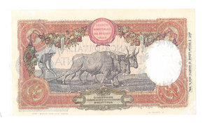 R/ CARTAMONETA. REGNO D'ITALIA. Vittorio Emanuele III (1900-46). 50 Lire. Emissione 18.05.1917. R.Decr. 18.05.1917 e 16.06.1915. N.serie L45 6997. (Firme: Stringher-Sacchi) Alfa BI.213. Piega restaurata in basso a sin. e in alto a d.      Molto Raro SPL/qFDS