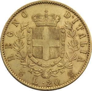 REGNO D'ITALIA. Vittorio Emanuele II (1861-78) 20 Lire 1868T. Pag.462. AU.