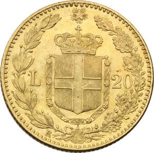 REGNO D'ITALIA. Umberto I (1878-1900) 20 Lire 1881. Pag.577. AU.