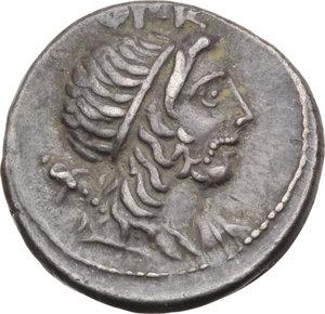 D/ ROMA REP. Cornelia. Cn.Lentulus (76-74 a.C.) Denario. D/Il Genio del Popolo romano. R/Globo tra timone e scettro. B.54./Cas.118. AR. BB