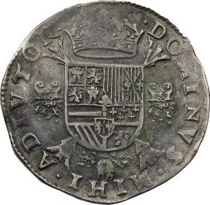 BELGIO (e Paesi Bassi). Brabante (17 provincie). Filippo II di Spagna (1555-98) Scudo 1561 (Ø42). D/Busto corazz. a s. R/Scudo coronato. Dav.8493. AR.