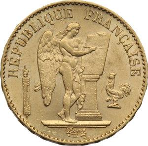 FRANCIA III Repubblica (1871-1940) 20 Franchi 1887°. KM.825. AU.