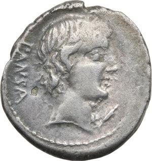 D/ ROMA REP. Vibia. C.Vibius c.f.Pansa (89-88 a.C.). Denario. D/Testa laur. di Apollo a d., davanti al collo simbolo. R/Minerva in quadriga verso d. B.1/Cas.377. AR. qBB