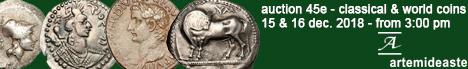 Banner Artemide Aste - Asta Numismatica 45E