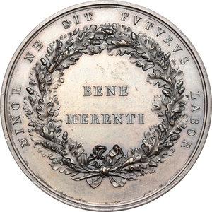 reverse: Bergamo.  Giacomo Carrara (1714-1796), Conte fondatore dell Accademia di Bergamo. Medaglia 1796