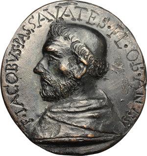 obverse: Firenze.  Frate Jacopo Passavanti (1302-1357), scrittore e architetto. Medaglia ovale fusa con legenda incisa, fine XVII sec
