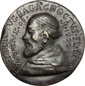obverse: Firenze.  Frate Benedetto Pagagnotti. Medaglia fusa con legenda incisa, fine XVII sec