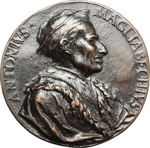 obverse: Firenze.  Antonio Magliabechi, bibliotecario granducale (1633-1714). Medaglia unifacie