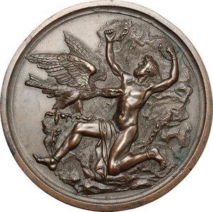 obverse: Milano.  Salvatore Viganò (1769-1821),  ballerino, coreografo e compositore italiano. Medaglia 1817