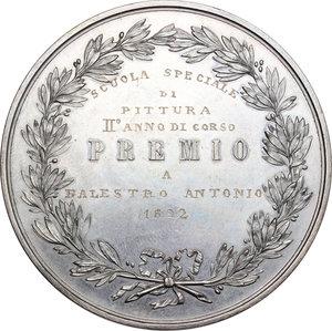 reverse: Milano.  Regia Accademia di Belle Arti . Medaglia premio a Balestro Antonio, 1892