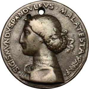 obverse: Rimini.  Sigismondo Pandolfo Malatesta (1432-1468). Medaglia 1450