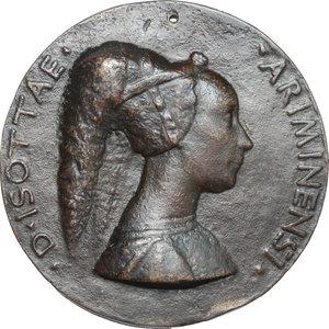 obverse: Rimini.  Isotta degli Atti (1432-1474) moglie di Sigismondo Malatesta dal 1456. Medaglia 1446