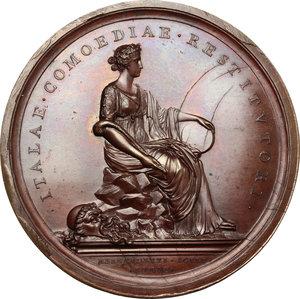 reverse: Roma.  Carlo Goldoni (1707-1793), Drammaturgo e librettista. Medaglia 1808