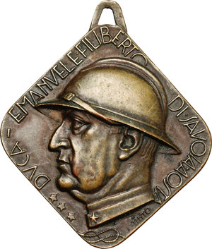 obverse: Torino.  Emanuele Filiberto Duca di Savoia-Aosta (1869-1931). Medaglia dell Adunata Nazionale Combattenti per l inaugurazione del monumento ad Duca d Aosta. Torino 4 luglio 1937