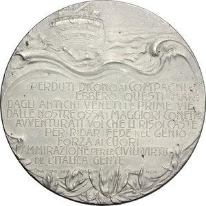 reverse: Veneto. Medaglia omaggio ai caduti del 1900, a ricordo della Spedizione di Luigi Amedeo di Savoia-Aosta al Polo Nord