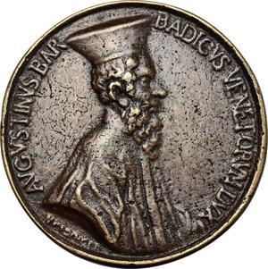obverse: Venezia.  Agostino Barbarigo (1486-1501).. Medaglia fusa, di restituzione
