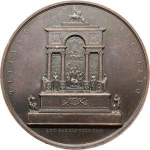 obverse: Venezia.  Tiziano Vecellio (1488-1576).. Medaglia per il mausoleo di Tiziano nella chiesa dei Frari in Venezia, 1852