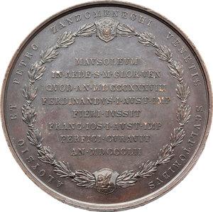 reverse: Venezia.  Tiziano Vecellio (1488-1576).. Medaglia per il mausoleo di Tiziano nella chiesa dei Frari in Venezia, 1852