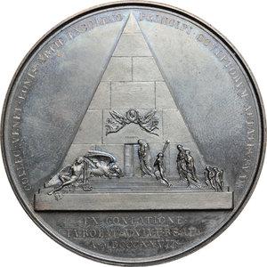 reverse: Venezia.  Antonio Canova (1757-1822), scultore. Medaglia 1827, per ricordare la morte di Canova e la sepoltura nella Basilica dei Frari a Venezia