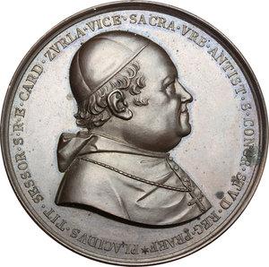 obverse: Venezia.  Giacinto Placido Zurla (1769 -1834), cardinale, arcivescovo cattolico e geografo italiano.. Medaglia 1833, a ricordo del cardinal Zurla, Vicario di Roma dal 1824 alla morte
