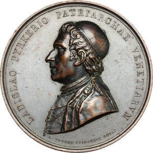 obverse: Venezia.  Giovanni Ladislao Pyrker von Oberwart (1772 – 1847), patriarca cattolico e scrittore.. Medaglia commemorativa 1827
