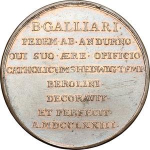 obverse: Venezia. Medaglia 1773, per le opere di B. Galliari in Sant Edvige a Berlino