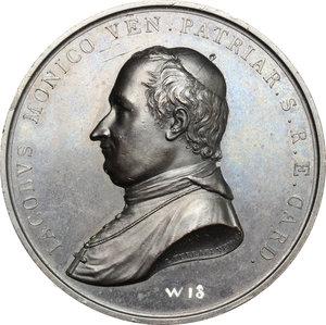 obverse: Venezia.  Jacopo Monico (1778-1851), cardinale e patriarca cattolico italiano.. Medaglia 1833, per l elevazione alla Porpora Cardinalizia