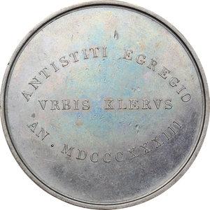 reverse: Venezia.  Jacopo Monico (1778-1851), cardinale e patriarca cattolico italiano.. Medaglia 1833, per l elevazione alla Porpora Cardinalizia