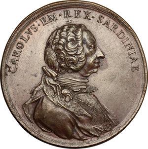 obverse: Casa Savoia.  Carlo Emanuele III (1730-1773).. Medaglia 1771, per le nozze di Maria Giuseppina Luisa di Savoia (1753-1810) con Luigi Stanislao di Borbone (1755-1824), conte di Provenza e fratello del delfino di Francia