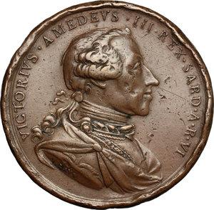 obverse: Casa Savoia.  Vittorio Amedeo III (1773-1796).. Medaglia 1778, premio Accademia di Belle Arti