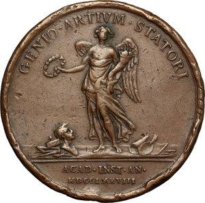 reverse: Casa Savoia.  Vittorio Amedeo III (1773-1796).. Medaglia 1778, premio Accademia di Belle Arti